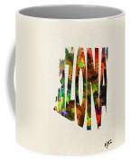 Arizona Typographic Watercolor Map Coffee Mug