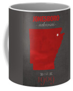 Arkansas State University Red Wolves Jonesboro College Town State Map Poster Series No 014 Coffee Mug