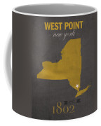 Army Black Knights West Point New York Usma College Town State Map Poster Series No 015 Coffee Mug