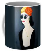 Art Deco  Hippy Girl Coffee Mug