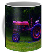 Artful Tractor In Purples Coffee Mug