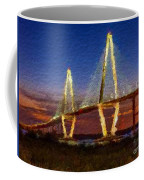 Arthur Ravenel Bridge At Evening  Coffee Mug