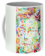Arthur Rimbaud Watercolor Portrait Coffee Mug