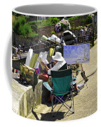 Artist At Work In Seaview - Isle Of Wight Coffee Mug