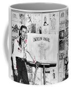 Artist Chuck Amesbury Aka Chuck Waggin Cartoon Corral Kvoa Tv Circa 1962-2013 Coffee Mug