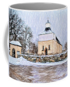 Artistic Presentation Of #svinnegarns #kyrka #church Of #svinnegarn March 2014 Viewed From The Parki Coffee Mug