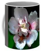 Artistic Shades Of Light And Pollinating Bee Coffee Mug
