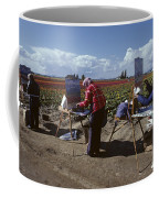 Artists Painting Tulip Fields Standing In A Row  Coffee Mug