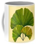 Arts And Crafts Movement Ginko Leaves Coffee Mug