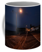 Asbury Park Boardwalk At Night Coffee Mug
