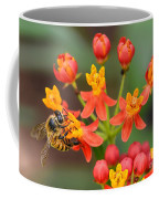 Asclepias Curassavica And Bee Coffee Mug
