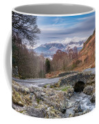 Ashness Bridge And Snow Capped Skiddaw Coffee Mug