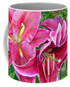 Asian Lily Flowers Coffee Mug