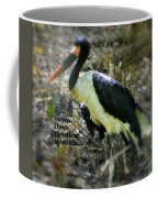 Asian Stork With Message Coffee Mug
