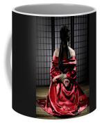 Asian Woman With Her Hands Tied Behind Her Back Coffee Mug