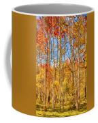 Aspen Fall Foliage Portrait Red Gold And Yellow  Coffee Mug