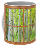 Aspen Tree Forest Autumn Picture Window Frame View  Coffee Mug