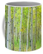 Aspen Tree Forest Autumn Time  Coffee Mug