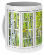 Aspen Tree Forest Autumn Time White Window View  Coffee Mug by James BO  Insogna