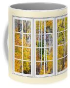 Aspen Tree Magic Cream Picture Window View 3 Coffee Mug by James BO  Insogna
