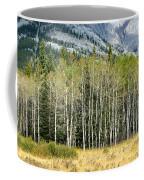 Aspen Trees Along The Bow Valley Coffee Mug