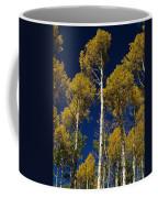 Aspens Against Blue Sky Coffee Mug