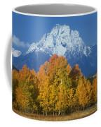 Aspens Fall Mount Moran Grand Tetons National Park Wyoming Coffee Mug