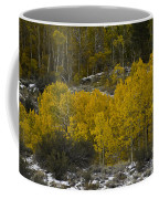 Aspens In Snow Coffee Mug