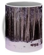 Aspens In Snow Coffee Mug