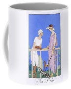 At Polo Coffee Mug by Georges Barbier