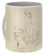 At The Cafe Coffee Mug by Henri de Toulouse-Lautrec