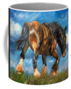 At The End Of The Day Coffee Mug by David Stribbling