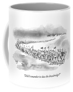 At The Front Of A Marching Army On Horseback Coffee Mug