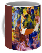 At The Garden Table Coffee Mug by August Macke