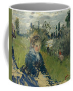At The Meadow. Vetheuil Coffee Mug