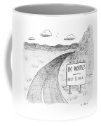 At The Side Of A Stretch Of Rural Road Coffee Mug