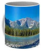 Athabasca River With Mountains Coffee Mug