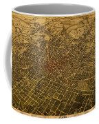 Atlanta Georgia City Schematic Street Map 1892 On Recovered Worn Parchment Paper Coffee Mug