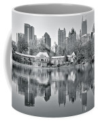 Atlanta Reflecting In Black And White Coffee Mug