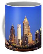 Atlanta Skyline At Dusk Midtown Color Panorama Coffee Mug