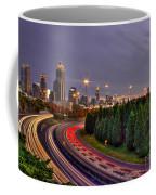 Atlanta Sundown Night Lights Art Coffee Mug