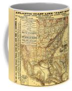 Atlantic Coast Line Railway Map 1885 Coffee Mug