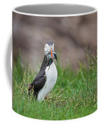 Atlantic Puffin With Sandeels Coffee Mug