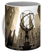 Atlas At Rockefeller Center Back Side Coffee Mug