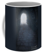 Atmospheric Creepy Arched Tunnel With Cobbled Floor Coffee Mug
