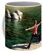 Attractive Woman Doing Yoga Coffee Mug