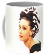 Audrey Hepburn In Watercolor Coffee Mug