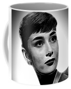 Audrey Hepburn - Black And White Coffee Mug