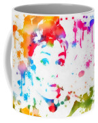 Audrey Hepburn Paint Splatter Coffee Mug