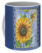 Audrey's Sunflower With Boarder Coffee Mug
